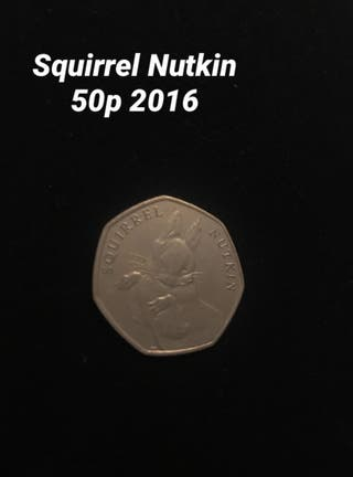 Squirrel Nutkin 50p 2016