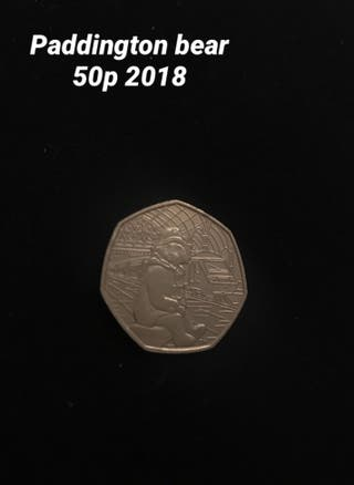 Paddington bear 50p 2018