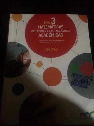 Libros de Matematicas academicas 3 Eso Anaya