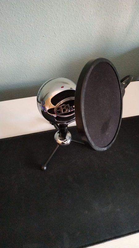 micrófono de estudio blue snowball