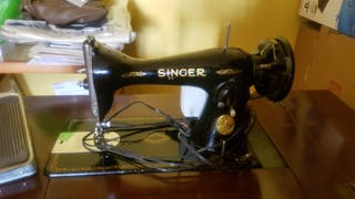 Máquina de coser Singer automática antigua