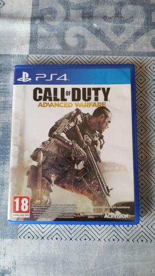 juego ps4 call of Duty advance Warfare