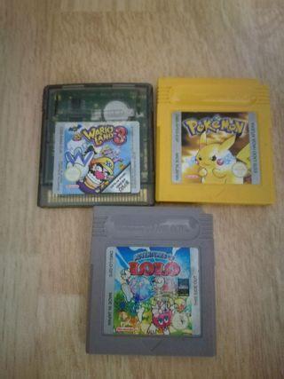 Lote videojuegos game boy clásica. Nintendo