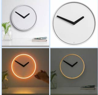 Reloj Pared Luz Sensor DECO