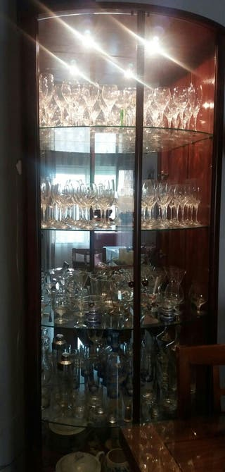Vitrina salón cristal con espejo