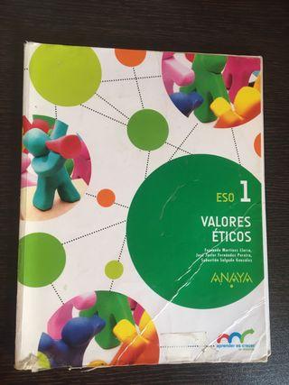 Libro Valores Éticos 1º ESO ANAYA