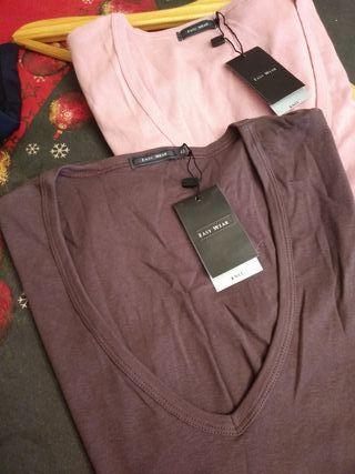 2 camisetas nuevas con etiquetas corte ingles