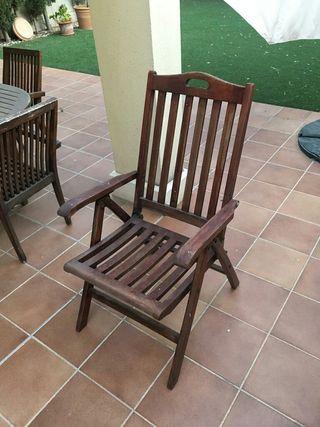 2 sillas reclinables de teka