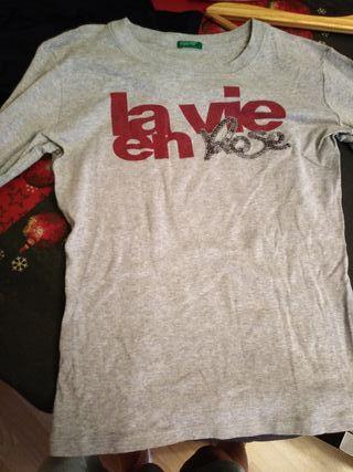camiseta algodon manga larga de benetton