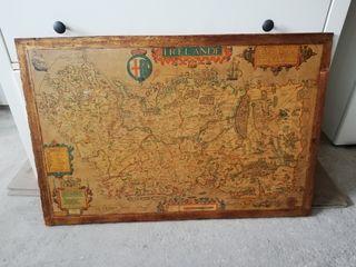 Cuadro carta navegación madera