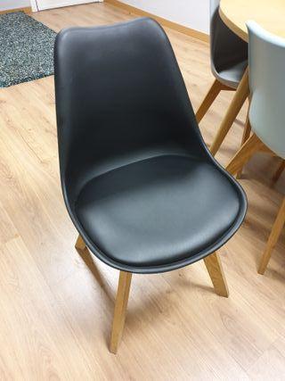 6 sillas de comedor u oficina (6 colores)