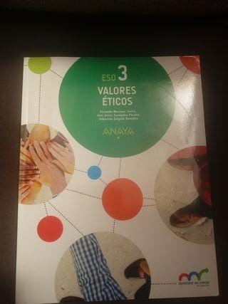 NUEVO Libro texto Valores Éticos 3° ESO