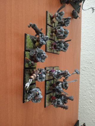 batallon pintado ogros Warhammer fantasy