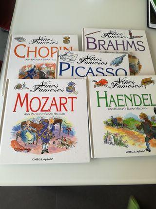 Cinco cuentos biografías infantiles