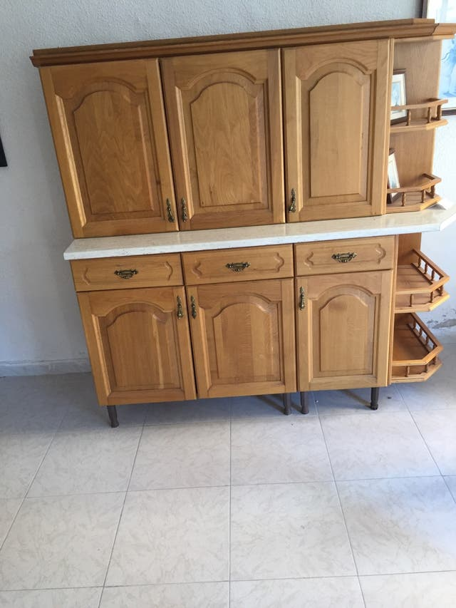 Muebles de cocina en roble