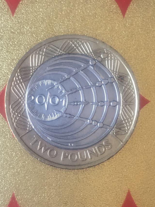 2 pound coin Marconi 1st wireless transmission 200