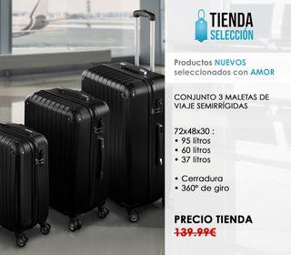 Set 3 maletas de viaje rígidas Equipaje ruedas