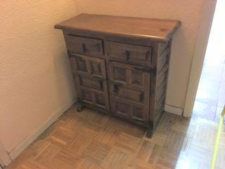Mueble para recibidor, espejo y perchero