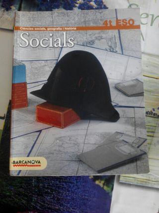 libro de Ciències socials, geografía i història