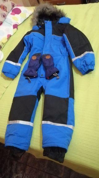 mono nieve+guantes. niño