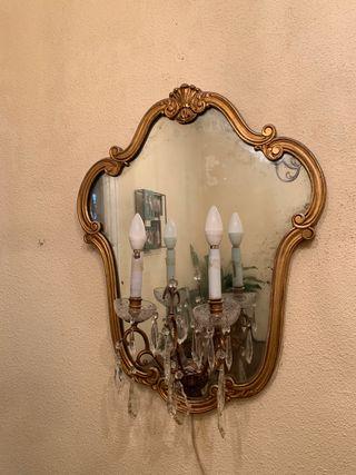 Dos espejos recibidor antiguos