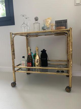 carrito vintage de bebidas