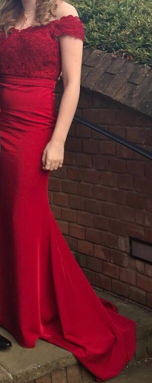 Wine red prom dress