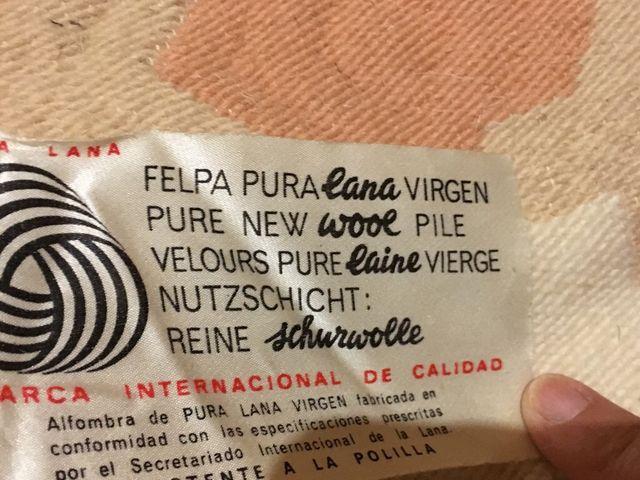 Alfombra de pura lana virgen