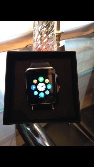 Smartwatch bluetooth negro cuadrado android