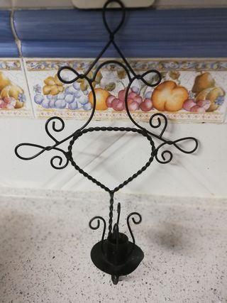 soporte para velas forja