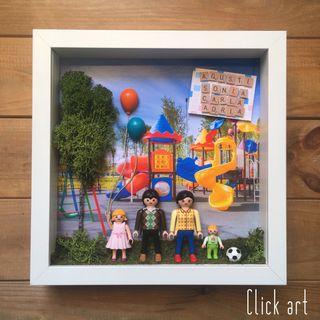 Cuadro Playmobil parque infantil