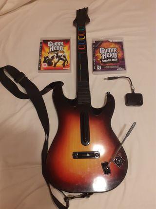 Guitarra guitar hero ps3 y juegos