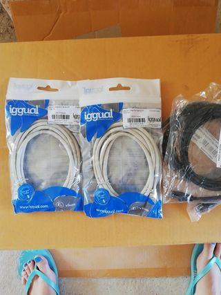 lote de 41 cables alargadores de red 2 metros
