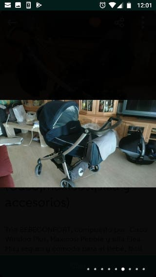 TRIO BEBECORFORT. Cuco,maxicosi,silla y accesorios