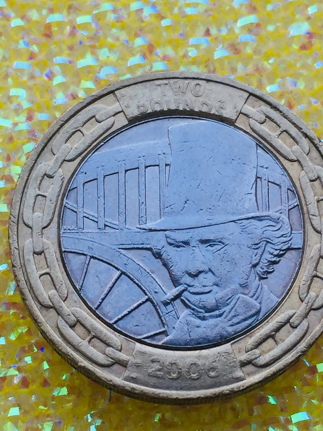 2 pound coin isambard kingdom Brunel the man 2006.