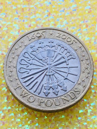 2 pound coin guy fawkes the fifth of November 2005