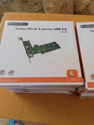 lote de 8 tarjetas PCI de 5 puertos USB 2.0