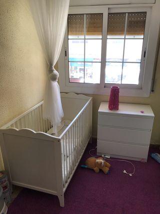 Cuna bebé con colchón