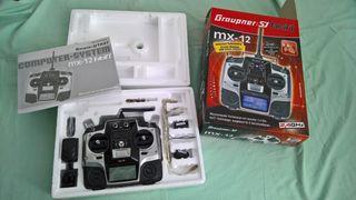 Emisora radiocontrol Graupner MX-12 , a estrenar