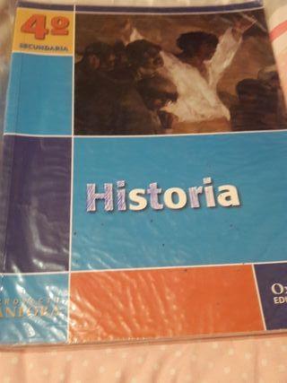 libro de historia proyecto Anfora 4 secundaria