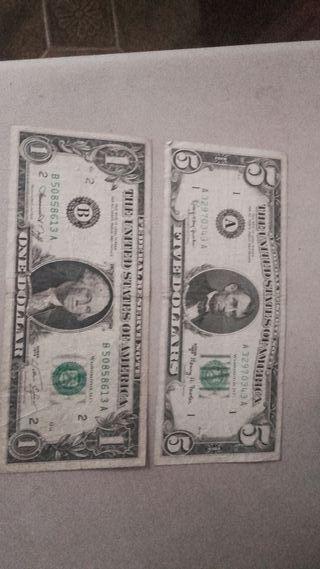 billetes dolar americano.8€ unidad