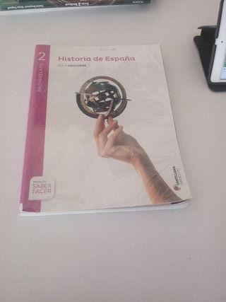 libro historia españa 2°bach Santillana