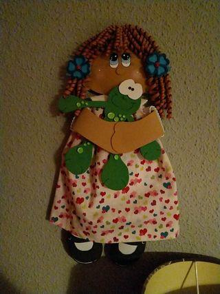 Muñecas para colgar, tamaño 30 cms