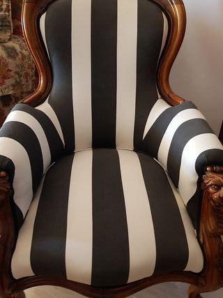 sillón tumbona de nogal macizo