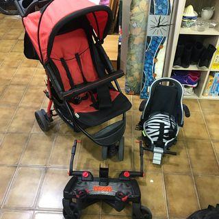 Carro de bebé hauck con plataforma y asiento