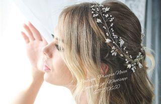 Muy fina Tiara Artesanal de novia a medida