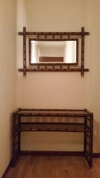 Mesa recibidor con espejo
