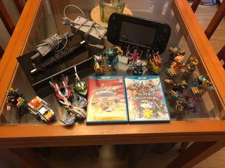 Wii U + juegos y figuras