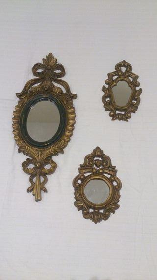 pequeños espejos de pared