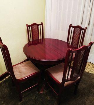 Mesa comedor extensible + 6 sillas